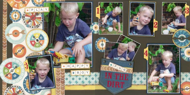 In the dirt scrap book layout