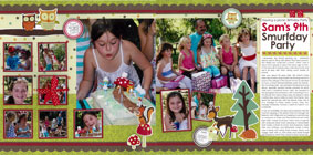 kids scrapbook layout